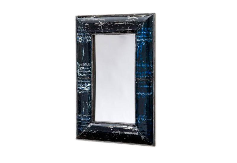 Miroir 100 x 150 cm en m tal recycl pour salon koh deco for Miroir 60 x 100