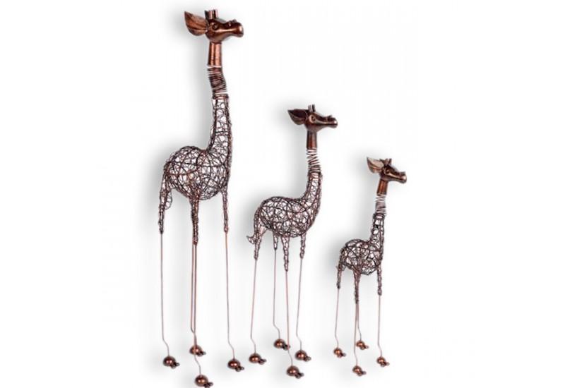 girafe d corative exotique en fer pour le salon koh deco. Black Bedroom Furniture Sets. Home Design Ideas