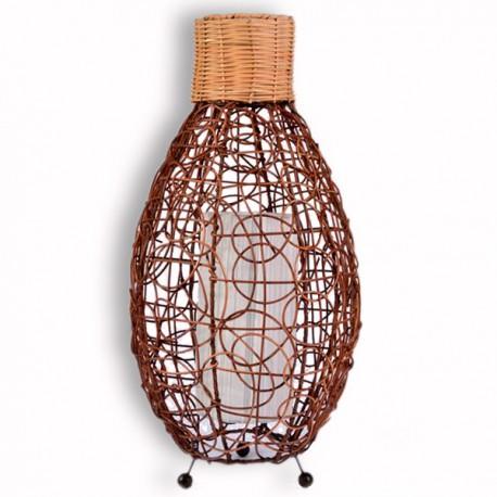 lampe exotique en rotin h 60 cm pour int rieur koh deco. Black Bedroom Furniture Sets. Home Design Ideas