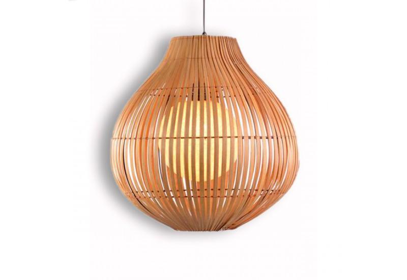 suspension exotique en bambou h 48 cm pour salon koh deco. Black Bedroom Furniture Sets. Home Design Ideas
