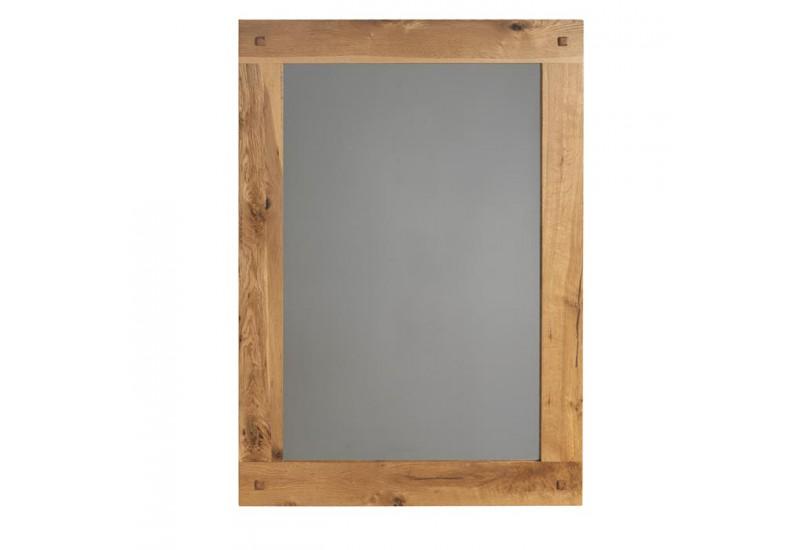 Miroir l 110 cm pour salon lodge casita en bois koh deco for Miroir chene
