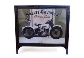 Bahut bas en métal recyclé Harley Davidson style industriel
