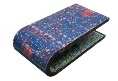 Table basse en métal recyclé 140 x 70 cm