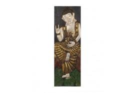 Panneau sculpté en Mahogany Bouddha