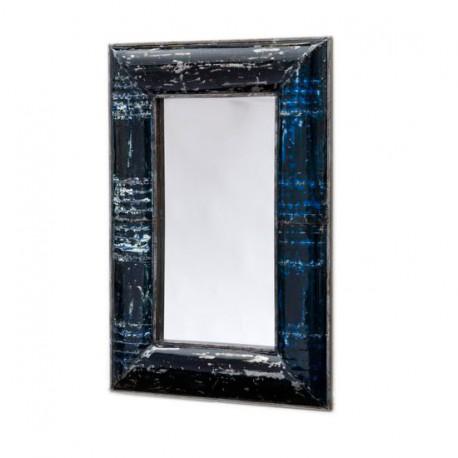 Miroir h 150 cm en m tal recycl pour le salon koh deco for Miroir en solde