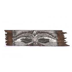 Panneau sculpté en bois masque