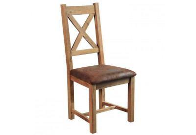Chaise en chêne massif et tissu Lodge - CASITA