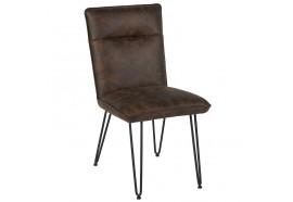 Chaise marron en polyester