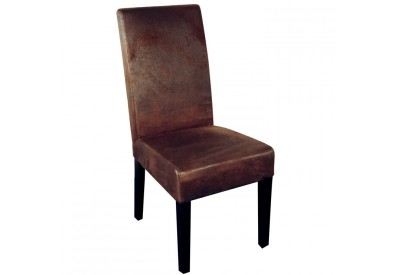 Chaise marron Havane - CASITA