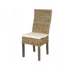 Chaise en rotin avec coussin - CASITA