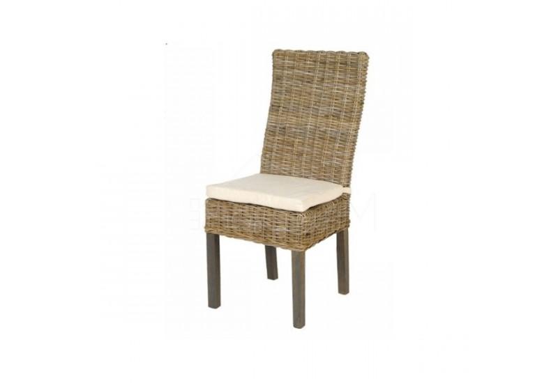 chaise en rotin avec coussin - Chaise En Rotin