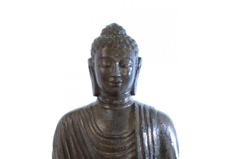 statue bouddha assis marron 100 cm pour jardin koh deco. Black Bedroom Furniture Sets. Home Design Ideas