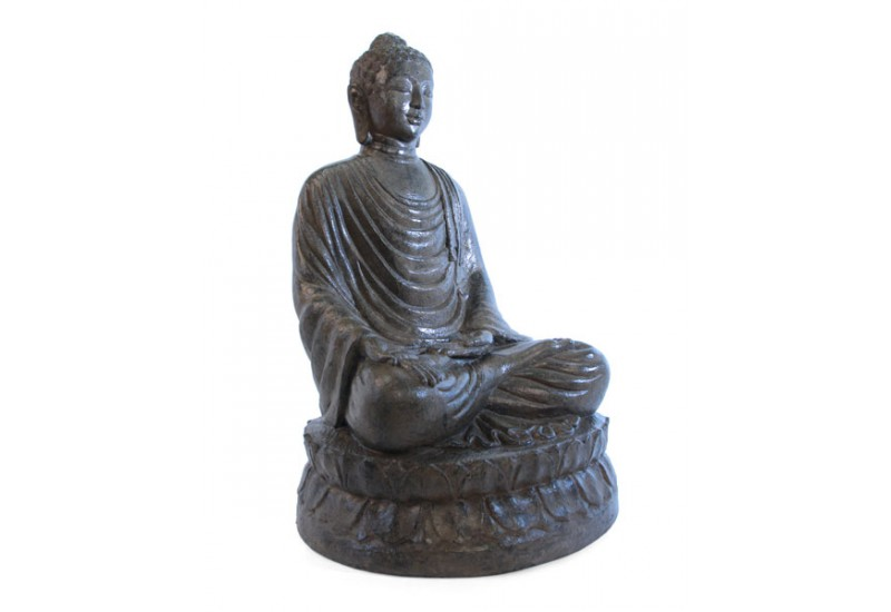 statue bouddha assis marron 100 cm pour jardin koh deco. Black Bedroom Furniture Sets. Home Design Ideas