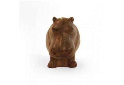 Statue Hippopotame 42 cm - Marron