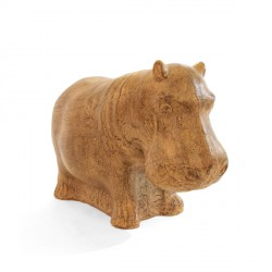 Statue Hippopotame 42 cm - Vanille