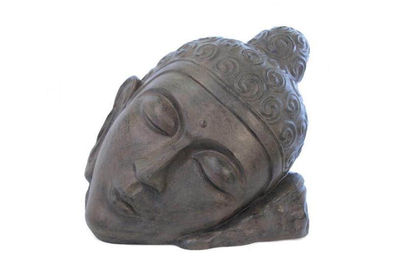 statue t te de bouddha relax pour jardin bali koh deco. Black Bedroom Furniture Sets. Home Design Ideas