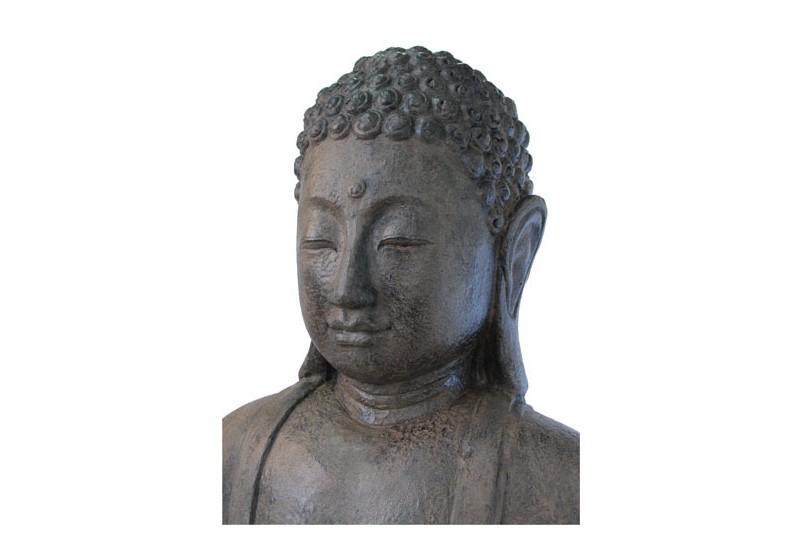 statue bouddha assis 2 m pour le jardin bali koh deco. Black Bedroom Furniture Sets. Home Design Ideas