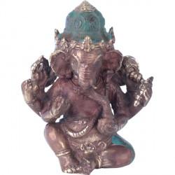 Statue Ganesh en bronze