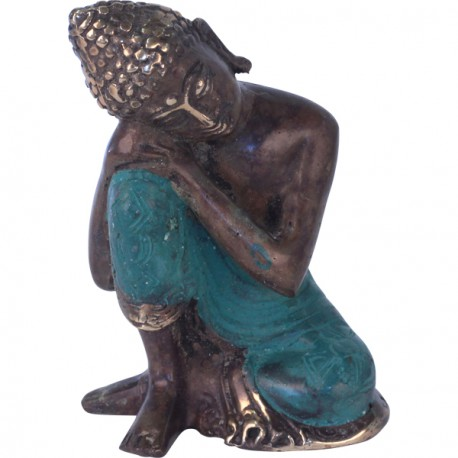statue de bouddha relax en bronze d co de bali koh deco. Black Bedroom Furniture Sets. Home Design Ideas
