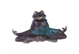 Statue grenouille zen en bronze