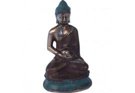 Statue de Bouddha sur socle en bronze