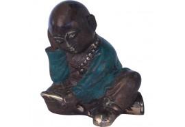 Statue de Moine bouddhiste en bronze