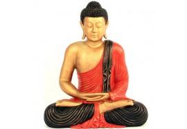 Statue de Bouddha assis - Rouge