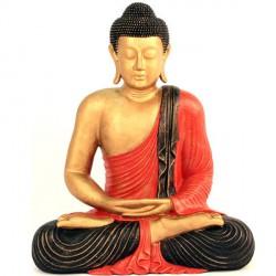 Statue de Bouddha Méditation 60 cm - Rouge