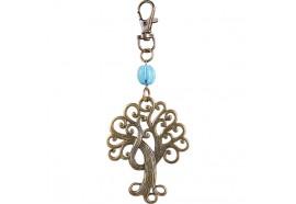 Porte-clés arbre de vie et perle