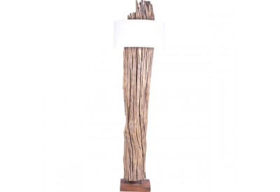 Lampadaire en bois flotté teck Sakra