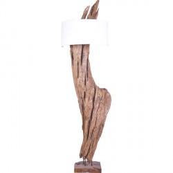 Lampadaire en bois flotté teck Plaga