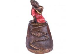 Porte encens Bouddha relax rouge