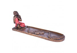 Porte encens Bouddha relax rouge