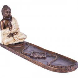 Porte encens Bouddha - Blanc