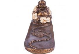 Porte encens Bouddha rieur blanc