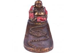 Porte encens Bouddha rieur rouge