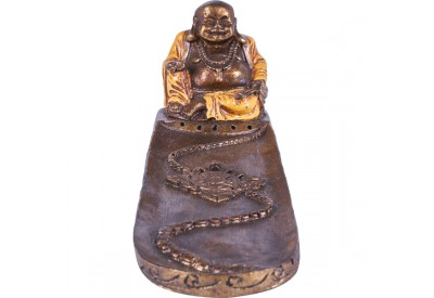 Porte encens Bouddha rieur - Orange