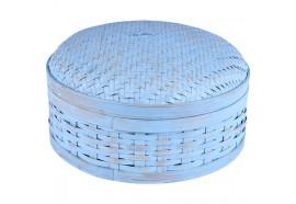 Boîte en bambou tressé - Bleu