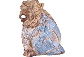 Hibou en bois de Suar 16 cm