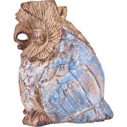 Hibou en bois de Suar H 16 cm