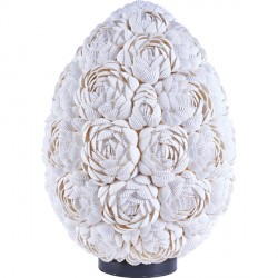 Lampe ovale Roses en coquillage