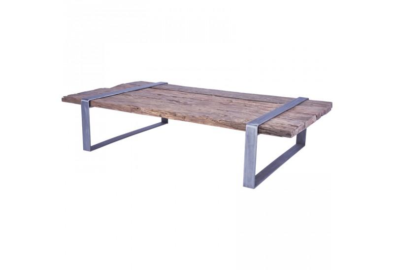 Table basse BLORA en vieux teck pour le salon Koh Deco