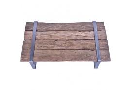 Table basse BLORA en vieux teck