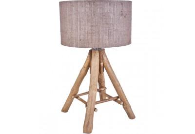 Lampe Tipi en bois flotté - Toile de jute