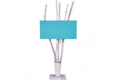 Lampe en bois blanchi PIRU
