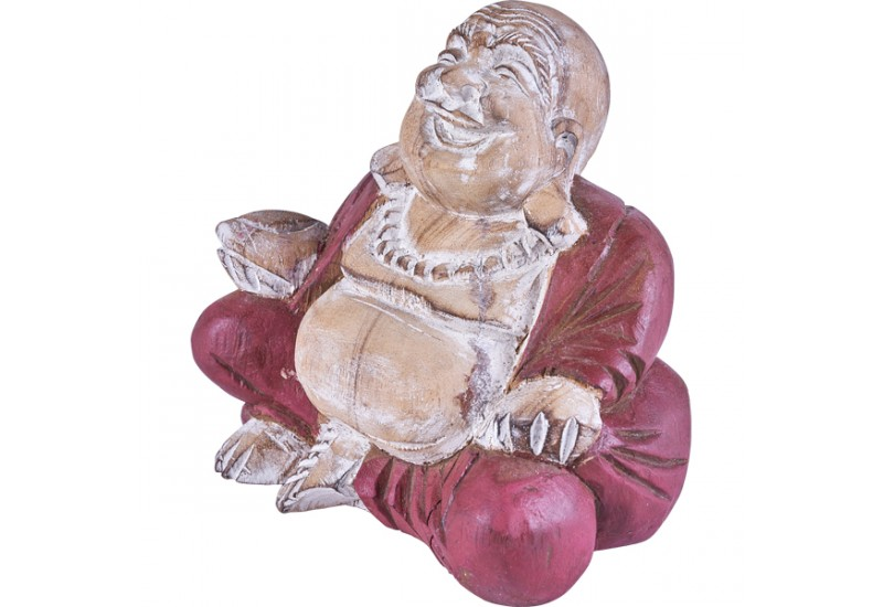 bouddha rieur en bois d co exotique de bali koh deco. Black Bedroom Furniture Sets. Home Design Ideas