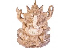 Sculpture de Ganesh en bois