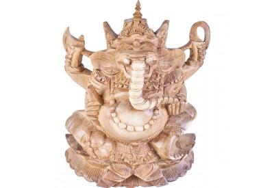 Sculpture Ganesh en bois 23 cm