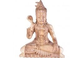 Sculpture de Shiva en bois