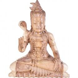 Sculpture Shiva en bois 30 cm